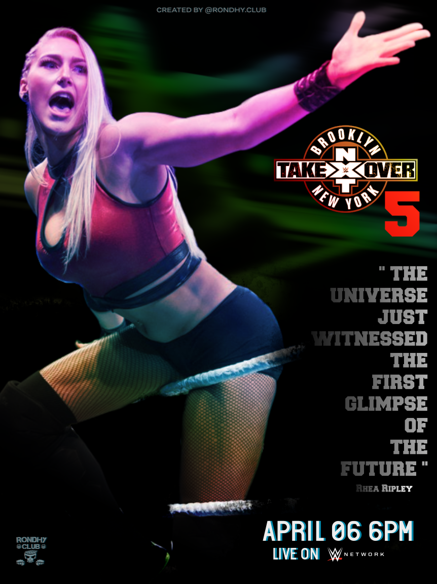 Pro Wrestling Nxt Takeover Brooklyn 5 Poster 2019 Ppv