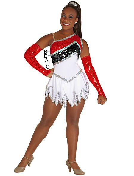 cdbec53f9dcc Majorette Costume (Vivacious Hankie Skirt Dress) Majorette Uniforms, Color  Guard Uniforms, Dancing