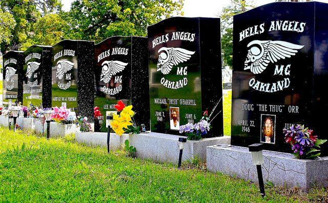 Hells Angels at Evergreen Cemetery | Woodstock | Hells