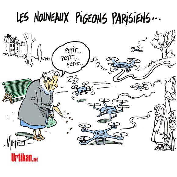 Les drones à Paris, une pratique illégale… mais banale   Humour ...