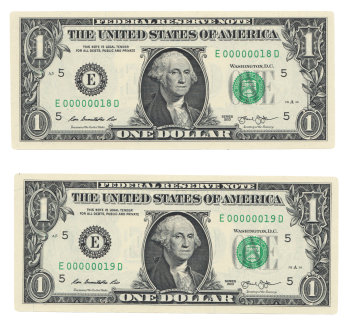 Lot 180 Fr 3001 E 2013 1 Frn Low Serial Numbers Manifest Auctions One Dollar Bill Dollar One Dollar