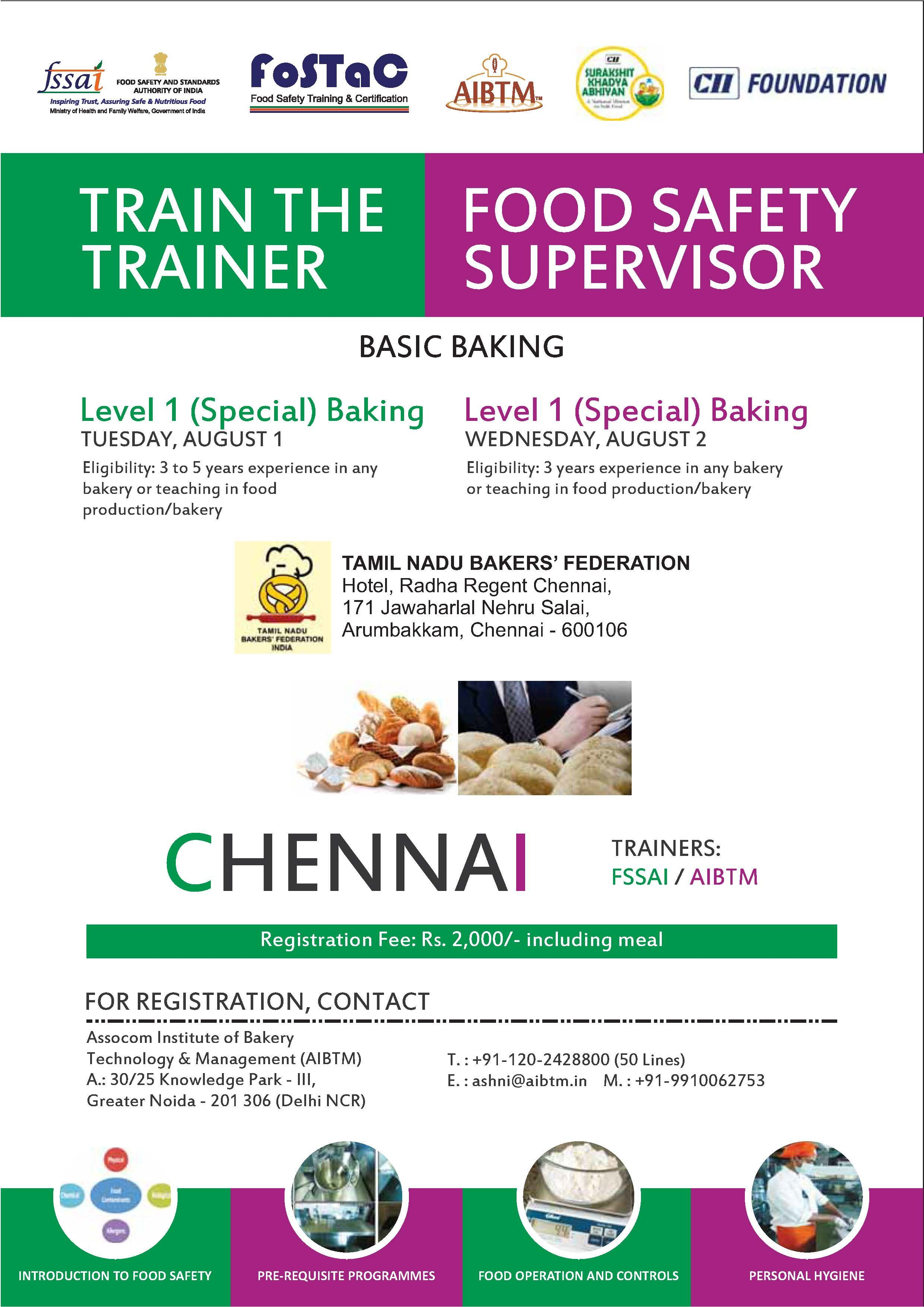"""Train The Trainer / Food Safety Supervisor"" Program on"