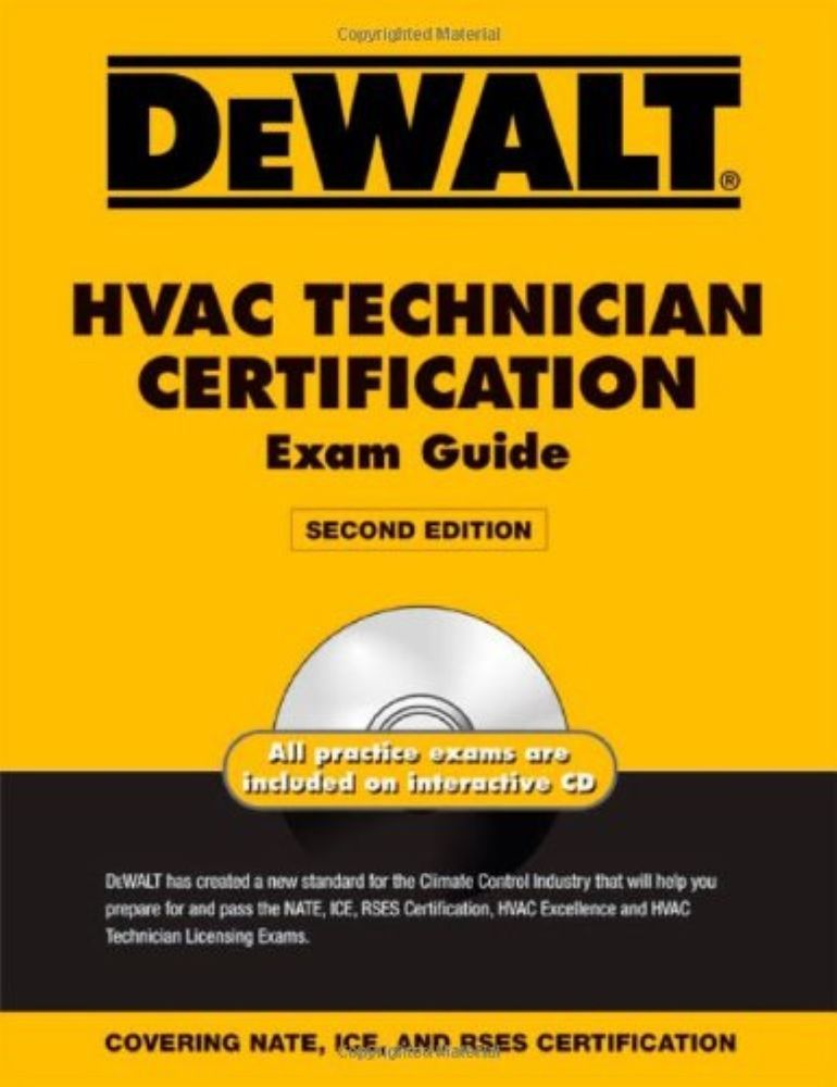 Dewalt Hvac Technician Certification Exam Guide With Practice Exam