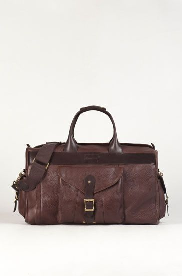 COMBINED LEATHER TRAVEL BAG Essentials New Season MEN
