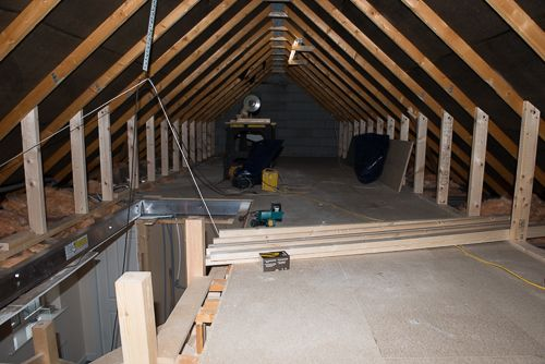Trusses Removed Structure In And Floor Down Attic Ideas