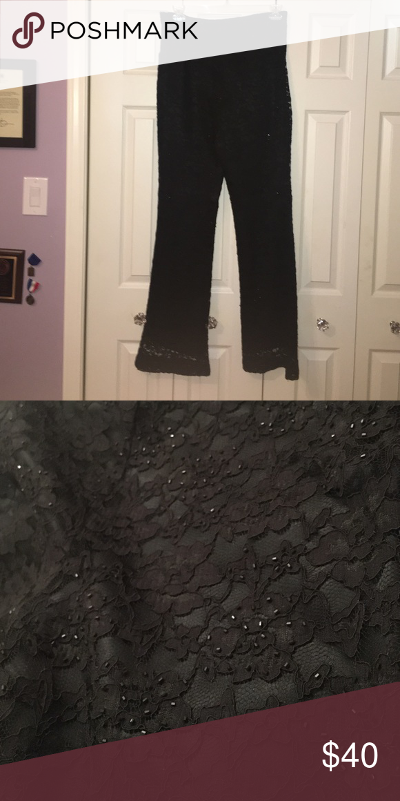 Casual corner lacs sequins pants size 12 Gently worn lace sequins pants from casual corner! Size 12 and super cute with a colored top casual corner Pants
