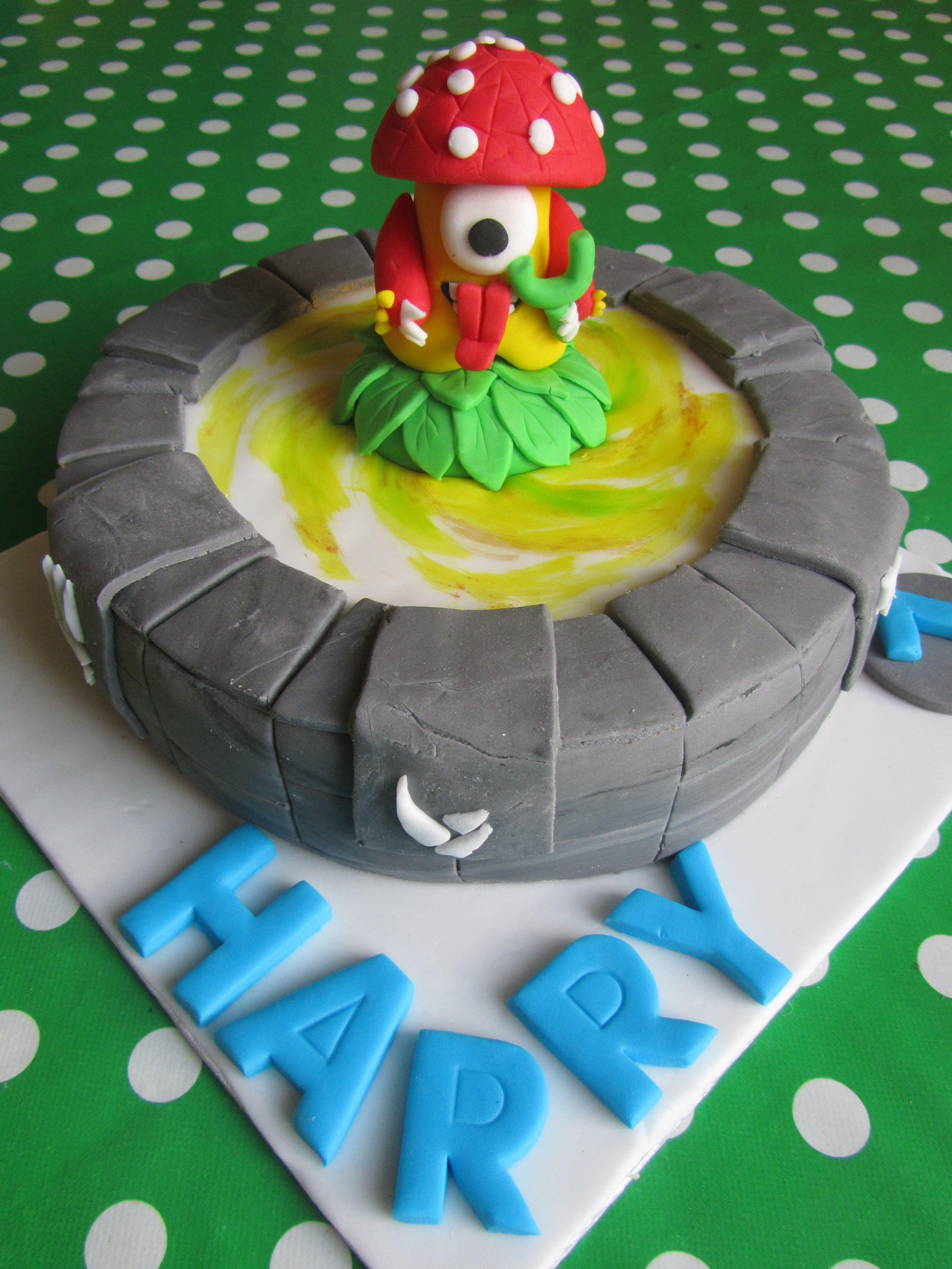 Skylander Cake Boom Shroom On The Portal Of Power Ideas For