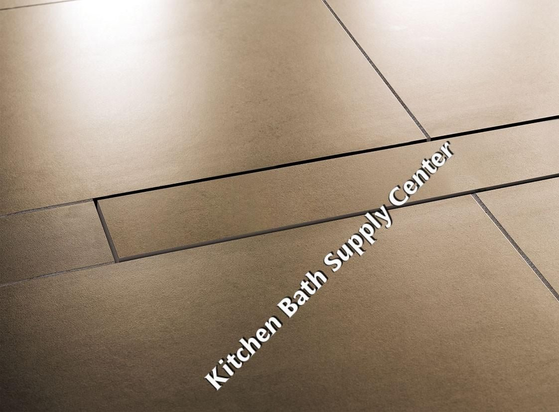 Schluter kerdi line linear shower floor drain with center outlet schluter kerdi line linear shower floor drain with center outlet and frameless tileable grate design install at walls or intermediate locations dailygadgetfo Choice Image