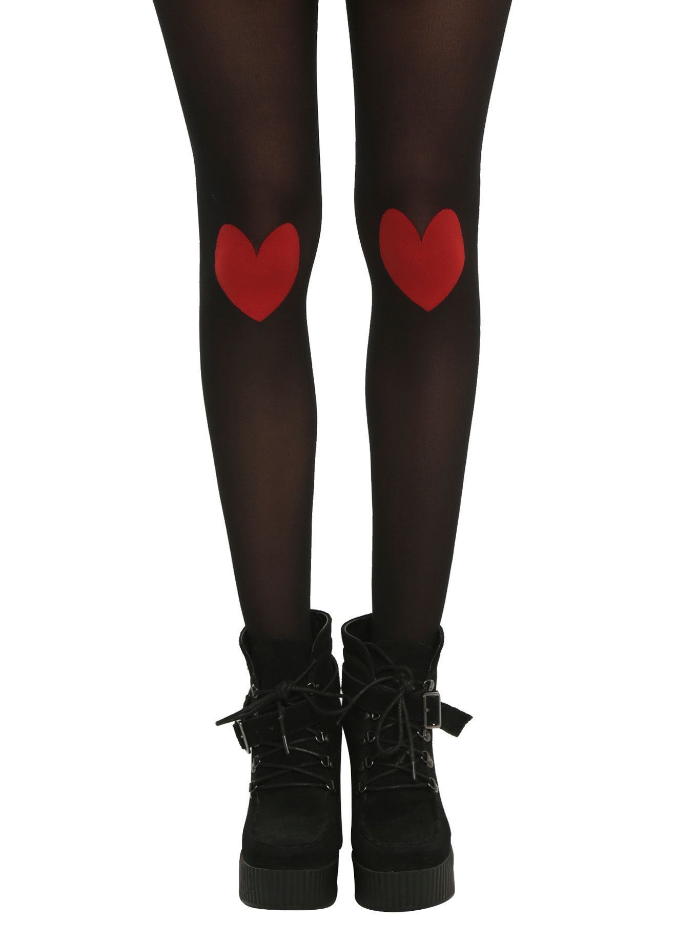 dec3194e36ad1 Black Sheer Heart Knee Tights   Pin of the Day   Tights, Leggings ...