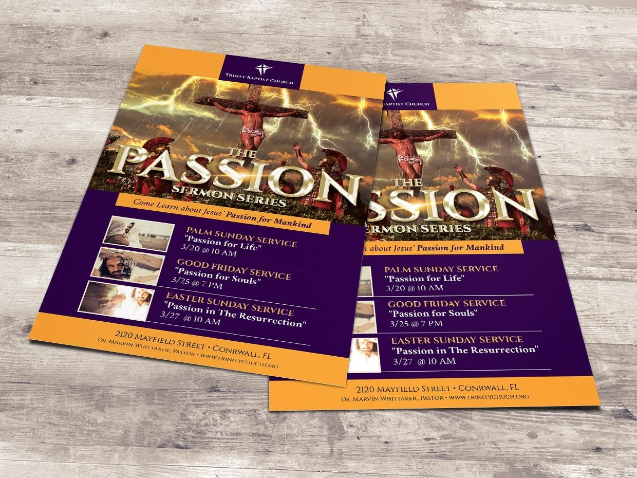 Passion Flyer and Poster - Photoshop | Sermon series, Print ...
