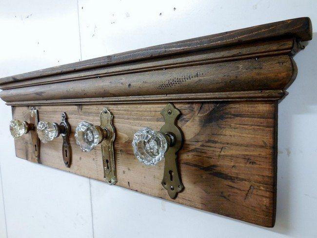 Coat Racks · Glass Doorknobs As Hangers