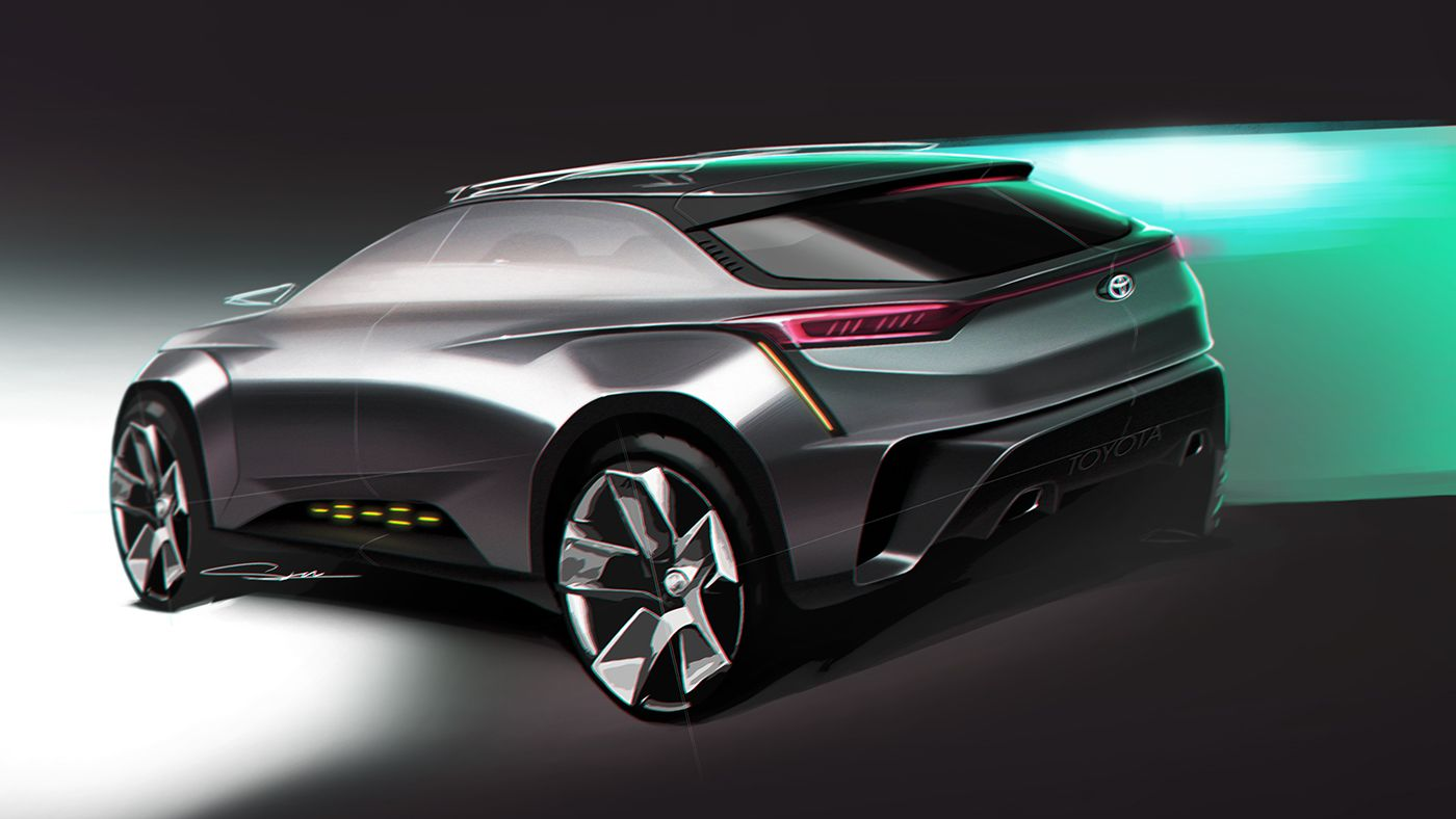 Cuv Car Toyota Cuv Concept On Behance Car Drawing Car Design Sketch
