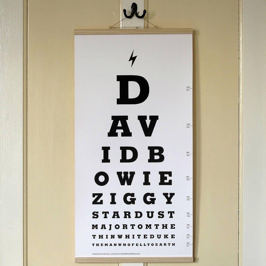 David bowie eye test chart canvas print david bowie eyes bowie david bowie eye test chart canvas print geenschuldenfo Image collections