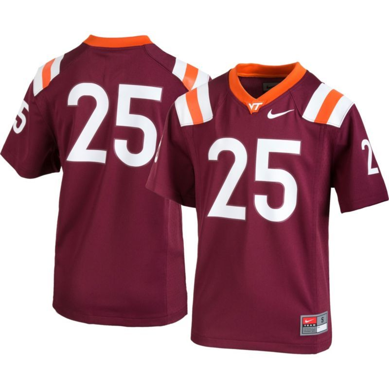 89eb0a8e48c ... nike youth virginia tech hokies 25 maroon game football jersey size  medium
