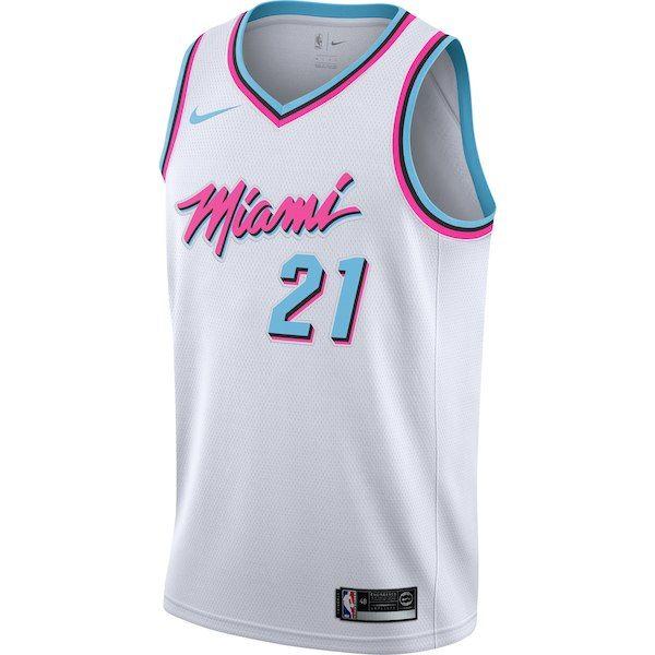 1f650c9e0500 Men s Miami Heat Hassan Whiteside Nike White Swingman Jersey - City Edition