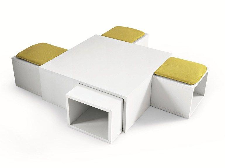 Pouf Coffee Table 1 4 Atelier Collection By Misuraemme Design