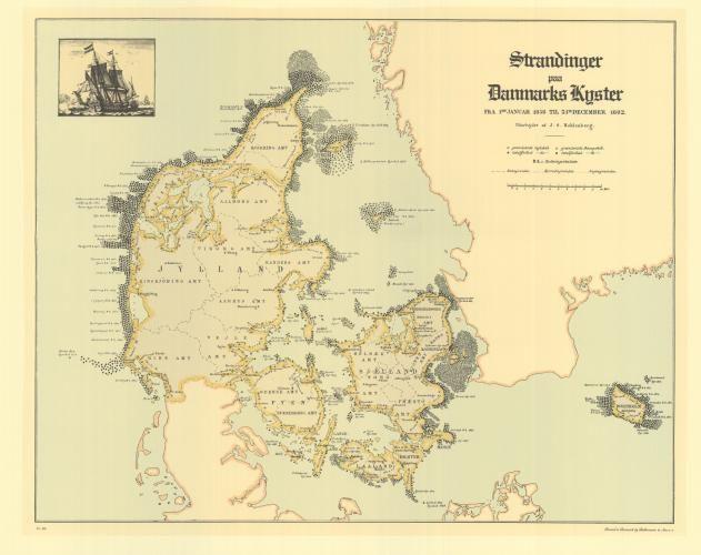 Strandinger Paa Danmarks Kyster 1858 1882 Ballermann