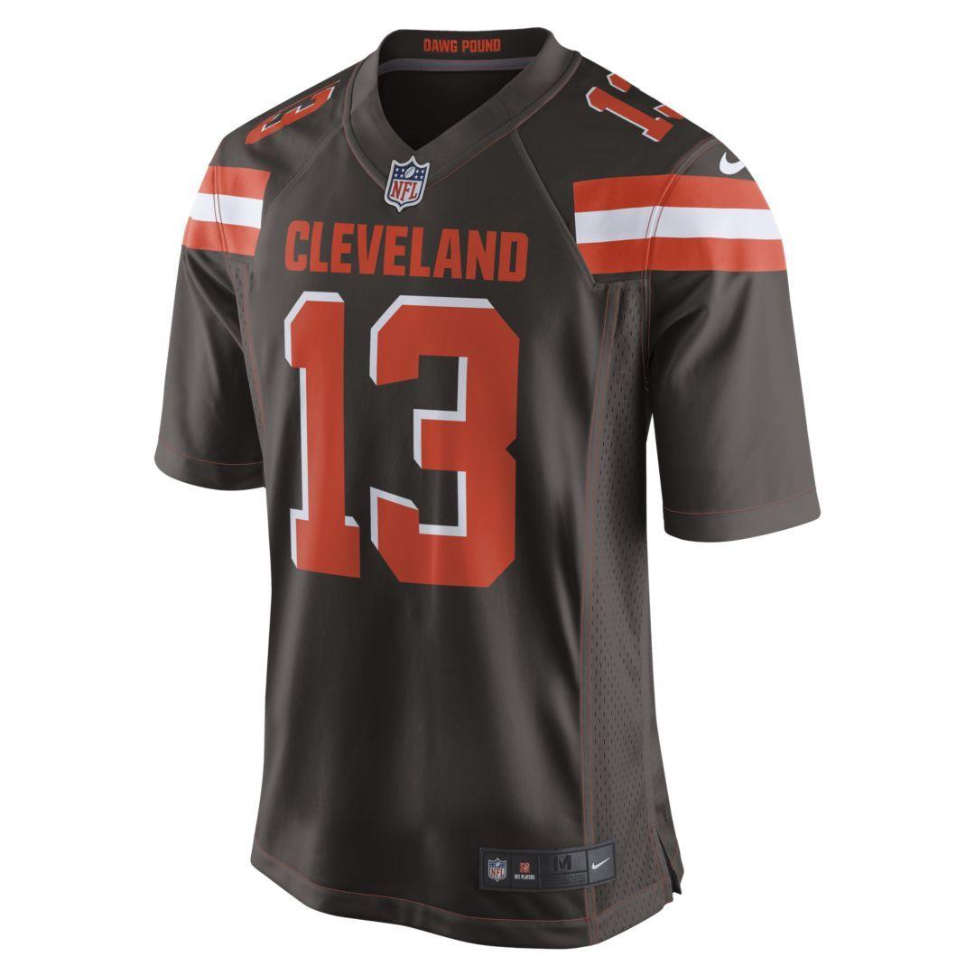 promo code c5f8c bd704 NFL Cleveland Browns (Odell Beckham Jr.) Men's Game Football ...