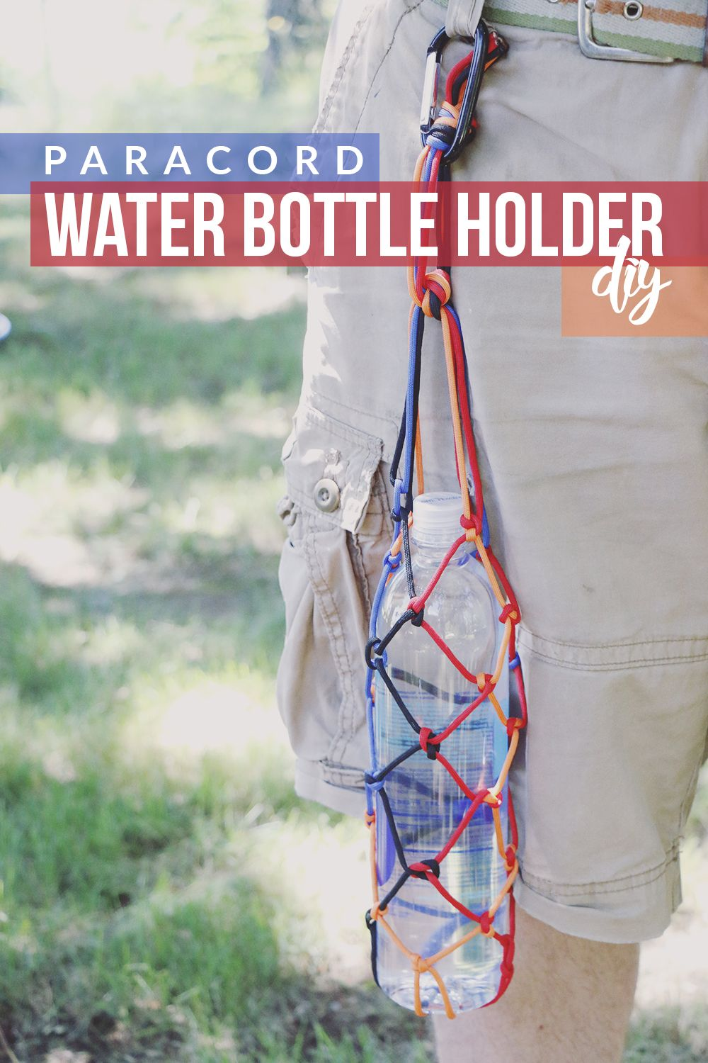 Paracord Water Bottle Holder DIY + Hiking Hydration