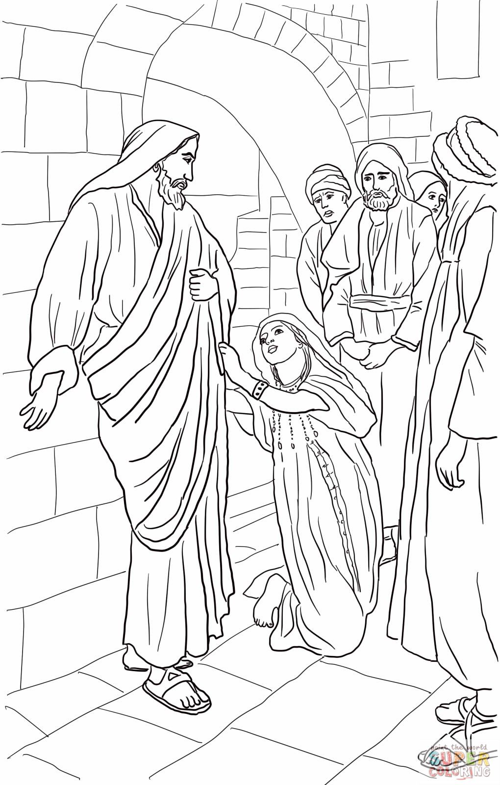 Jesus heals the Canaanite woman\'s daughter coloring page. Matthew 15 ...