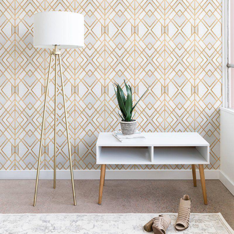 Elisabeth Fredriksson Geo 10 L X 24 W Matte Peel And Stick Wallpaper Panel Geo Wallpaper Wallpaper Panels Furniture