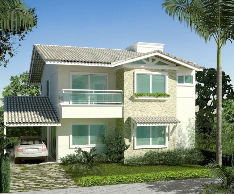 Fachadas de casas de 2 plantas con tejas planos for Casas con techo de teja