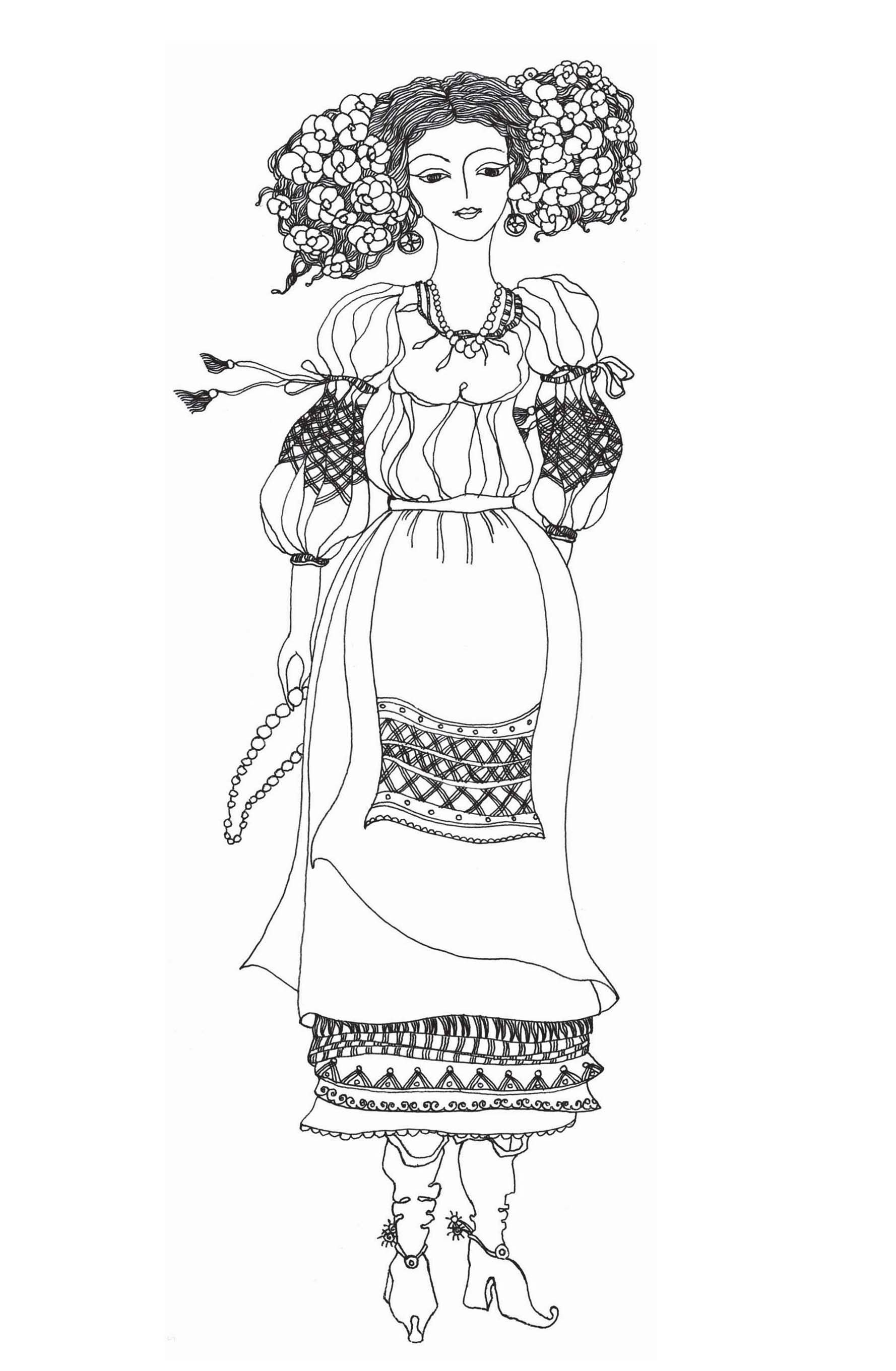 Ukrainian Coloring Coloring Books Ukrainian Art Coloring Pages