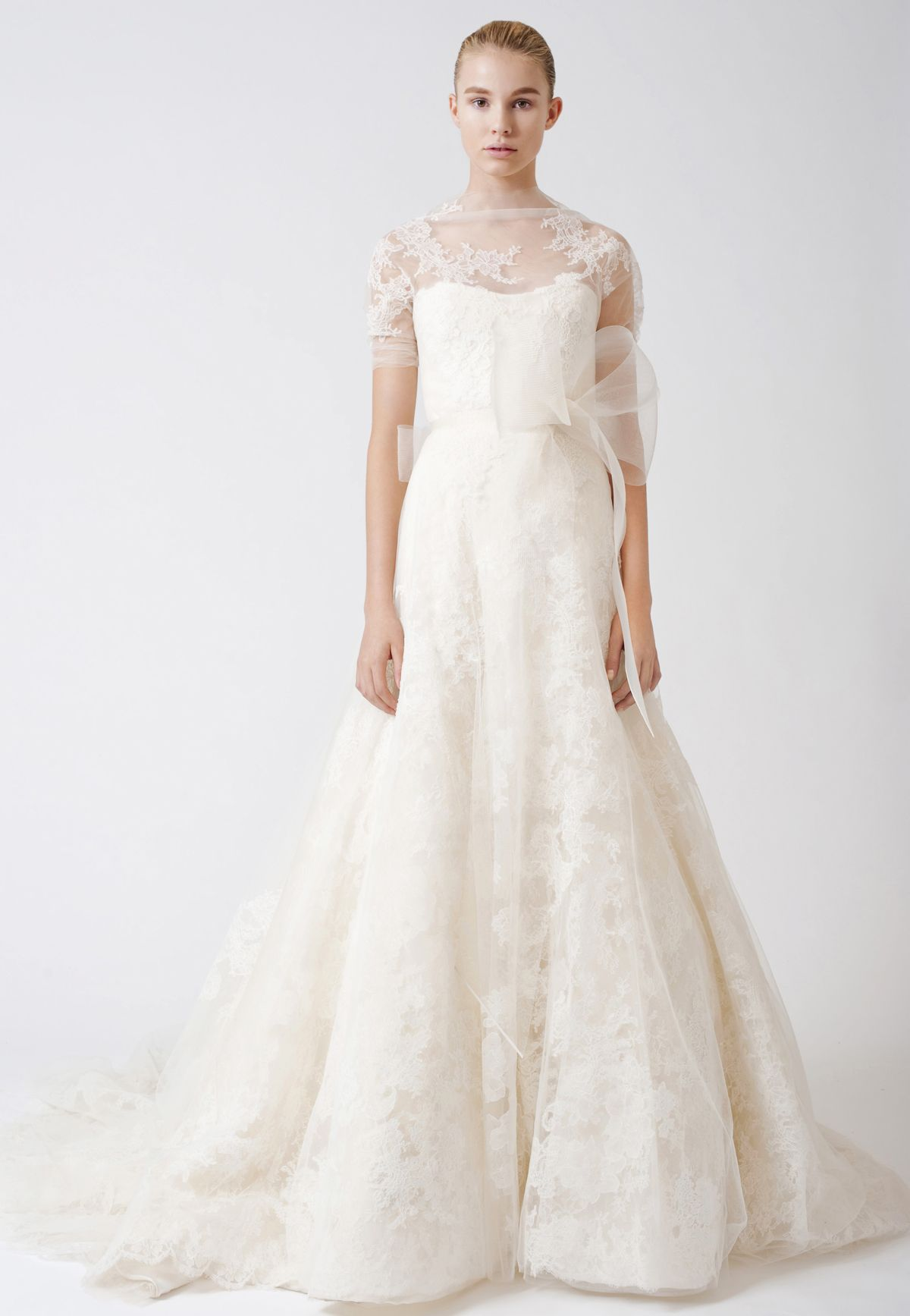 Vera wang lace wedding dress  Image result for esther vera wang  Wed  Pinterest  Lace Wedding