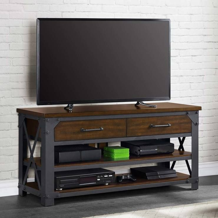 Assembly Instructions The Bayside Furnishings Logan 3 In 1 Tv Stand Enhances Your Home Theatre With Three In 2020 Bayside Furnishings Tv Stand Walnut Laminate Flooring