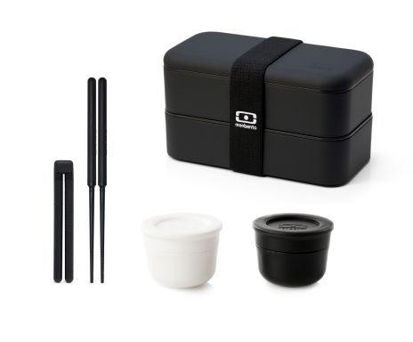 Set Bento MB Original, negro – 5 piezas
