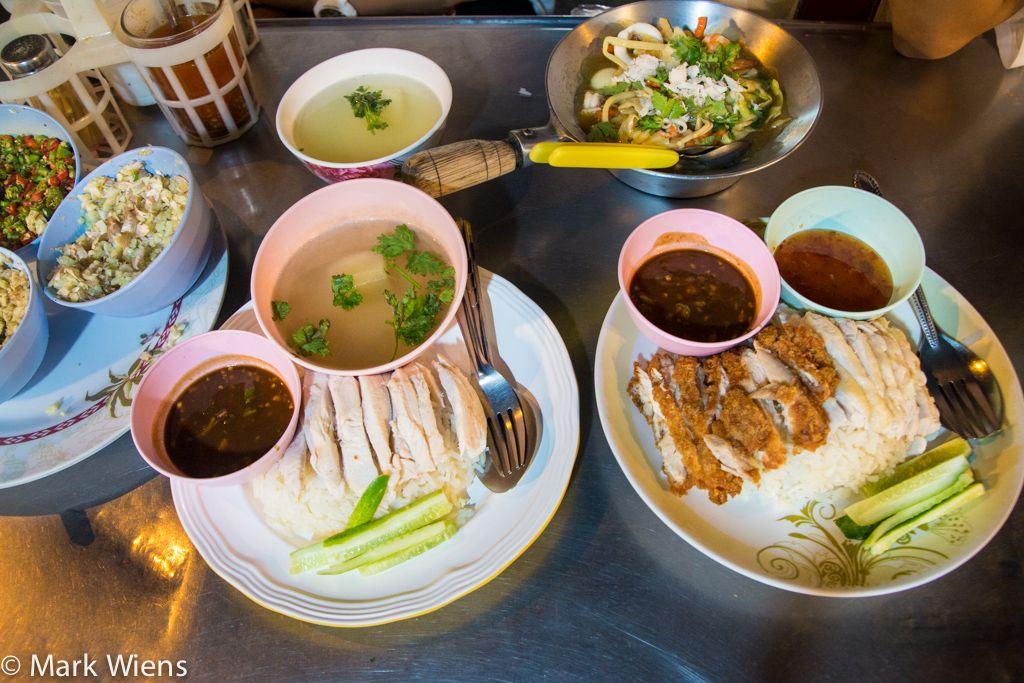 Khao man gai bowls and plates | Food, Street food, Asian ...