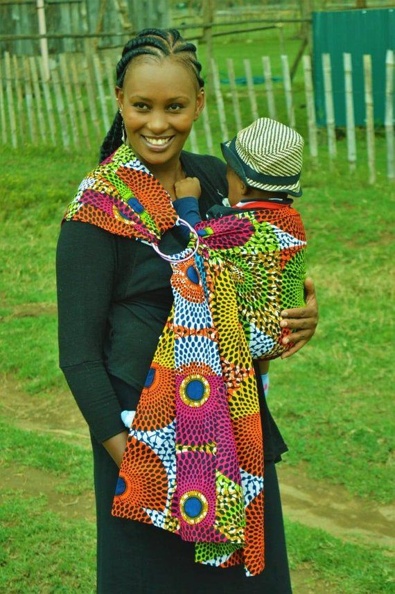 6358bec6c68 Beautiful African cotton babysling kitenge babycarrier for newborn toddlers  and big kids front and b