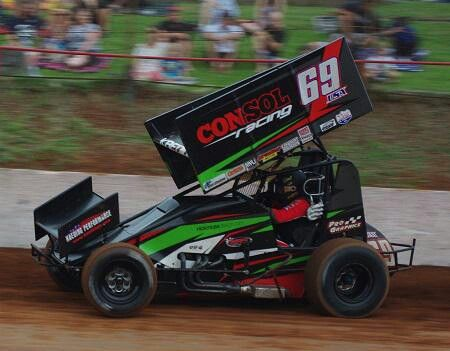 "Brent Kaedings sprint car down in the ""Land Down Under"""