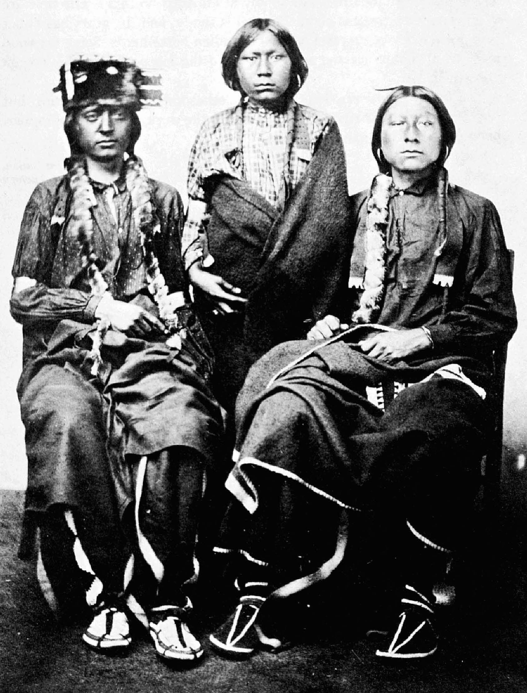 Three Young Men Arapaho By William Stinson Soule With