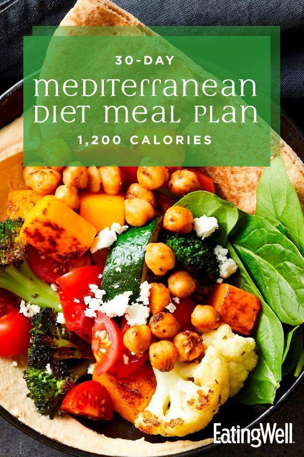 30 Day Mediterranean Diet Meal Plan 1 200 Calories In 2020 Mediterranean Diet Meal Plan Mediterranean Diet Recipes Mediterranean Diet Plan
