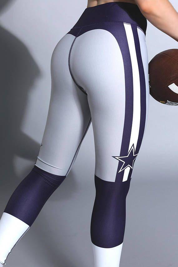 Dallas Cowboys USA Football Gym Leggings Workout Fitness  #cowboys #dallas #fitness #football #leggi...