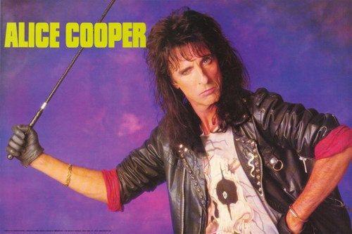 Alice Cooper 1989 Rare Poster