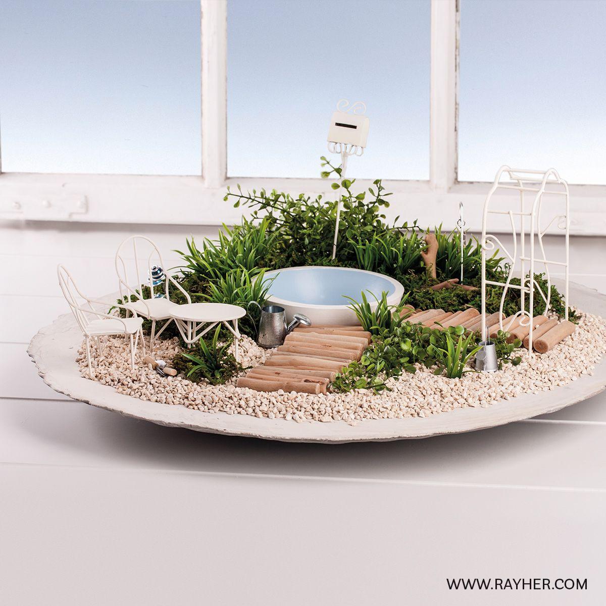 mini gardening minigarten mit pool mini gardening. Black Bedroom Furniture Sets. Home Design Ideas