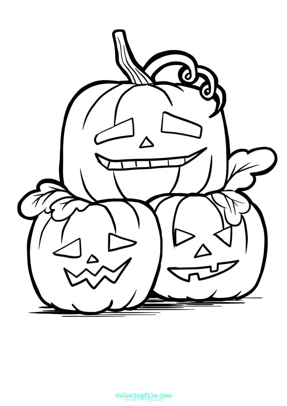 Halloween Stacked Pumpkin Coloring Pages Halloween Coloring Pages Halloween Coloring Pages Printable Pumpkin Coloring Pages