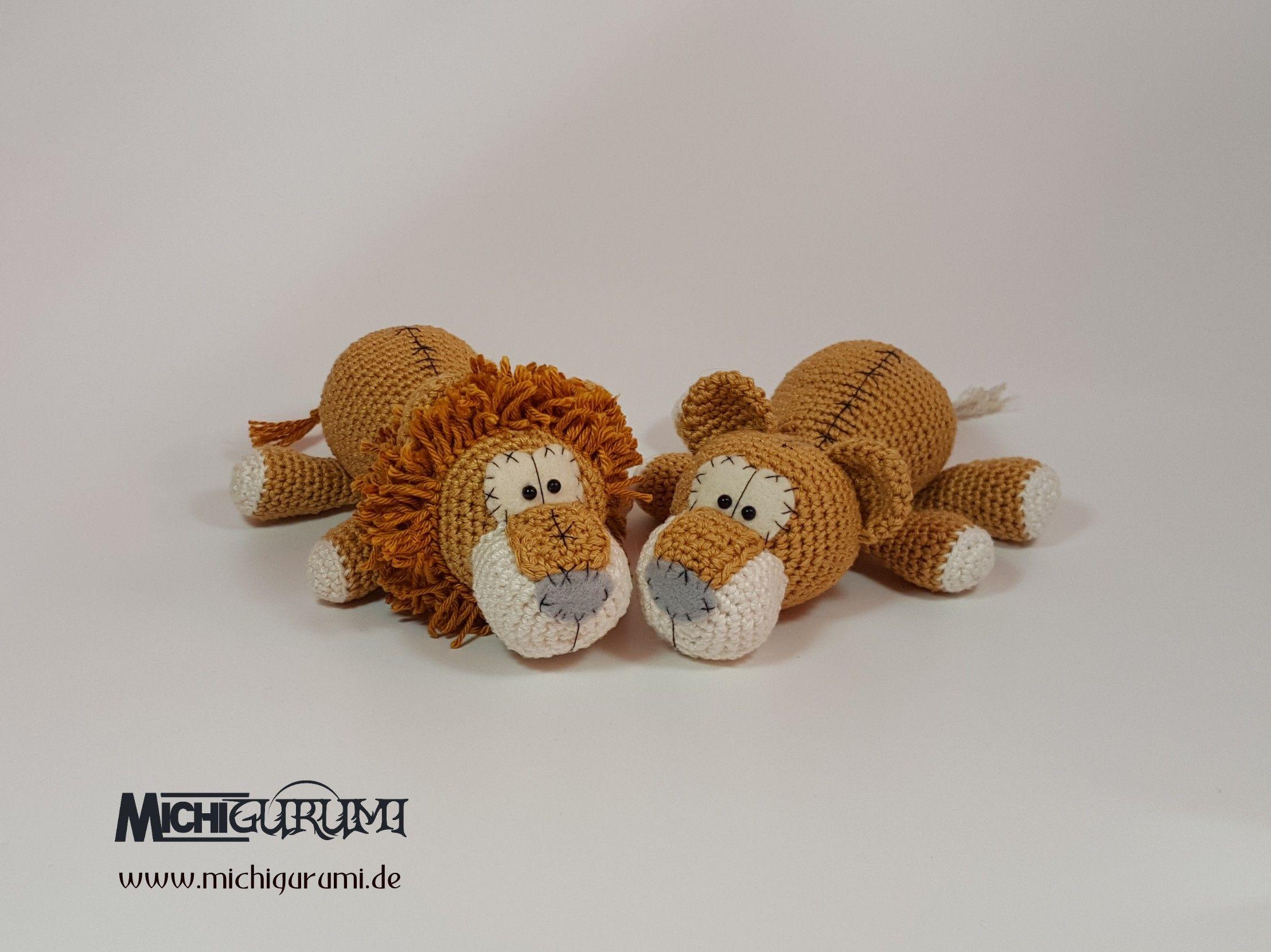 Häkelanleitung: Baby - Löwenpaar Chiara & Aslan | Häkelanleitungen ...