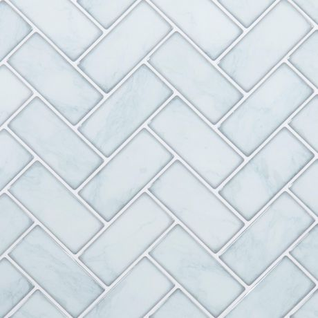 Truu Design Herringbone Wall Tiles Marble 10 In X 10 In