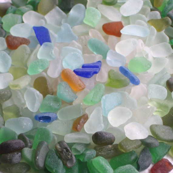 320 Small Sea Glass Shards Imperfections Art by TidelineDesigns