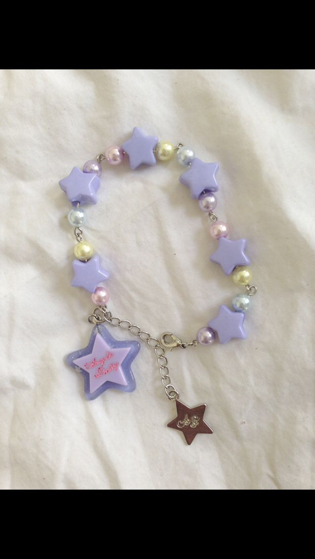 Angelic pretty milky star bracelet in lav