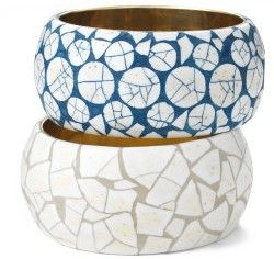 Egg Shell Mosaic - reclaim an ugly bangle