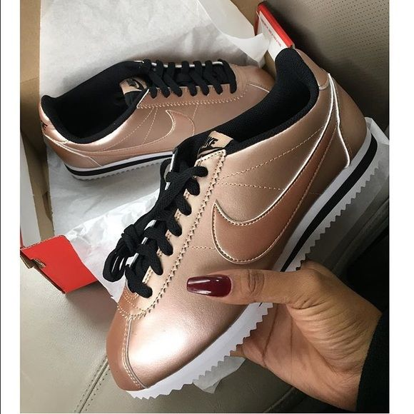 nike womens cortez rose gold  4015f57281