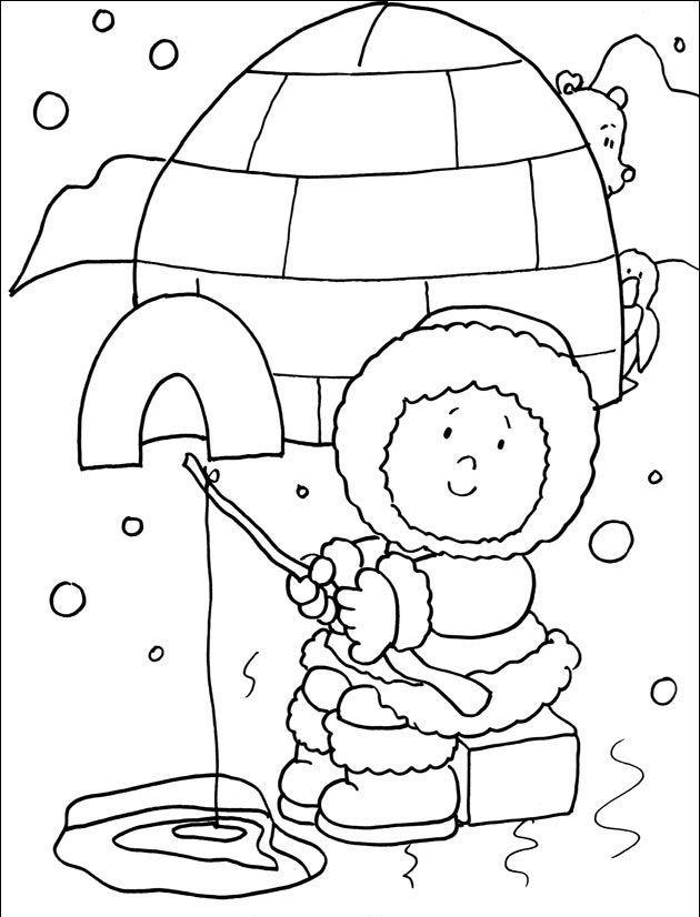 eskimo coloring page | χειμώνας | Pinterest | Winter, Winter season ...