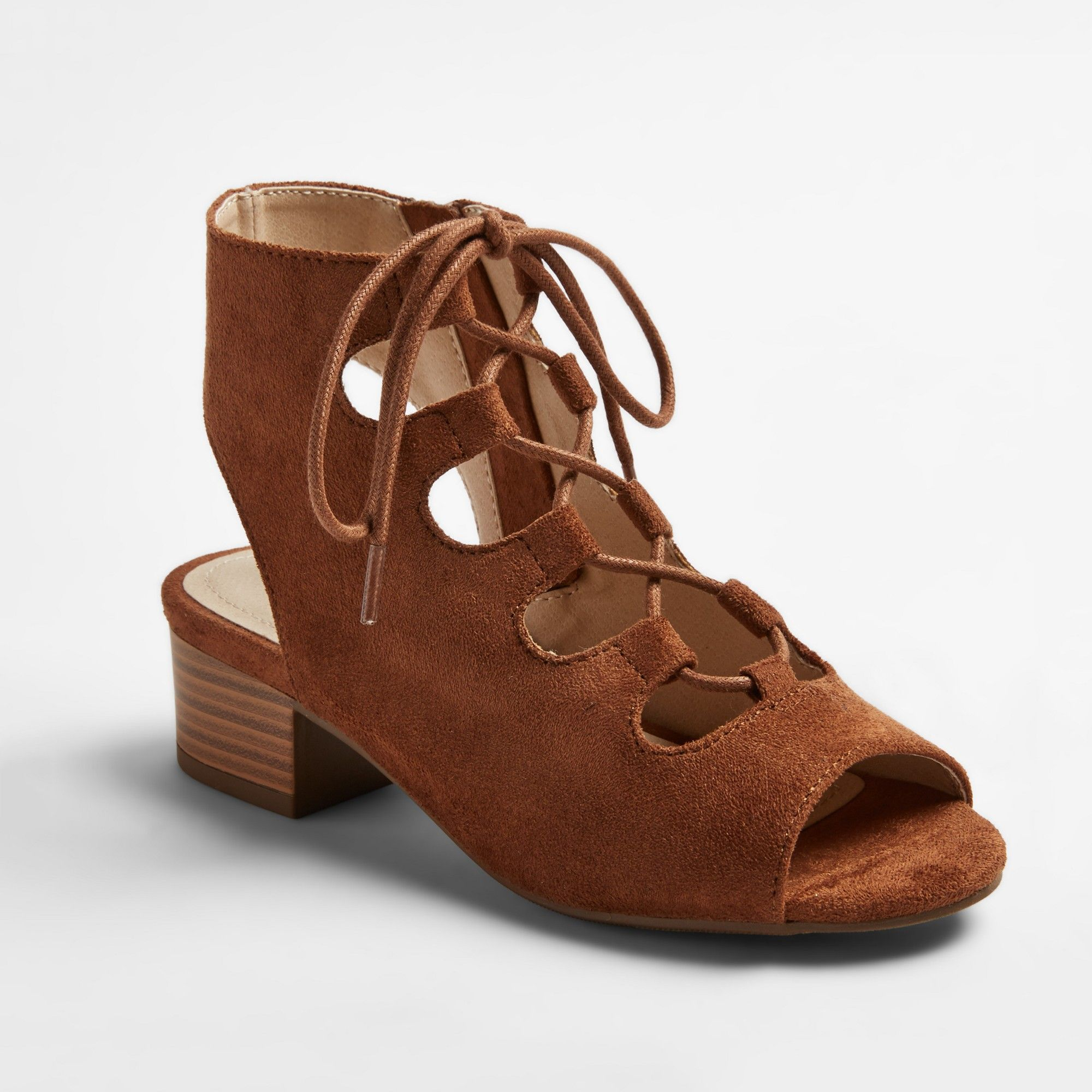 f5971e93ef06 Girls  Stevies  ohmy Heeled Gladiator Sandals - Chestnut (Brown) 13 ...