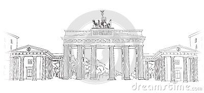 The Brandenburg Gate In Berlin Hand Drawn Pencil Sketch Illustration Brandenburger Tor In Berlin Germany How To Draw Hands Brandenburg Gate Illustration