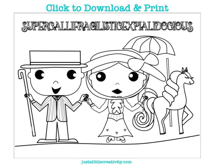 Free Printable Mary Poppins Returns Coloring Activity Sheets