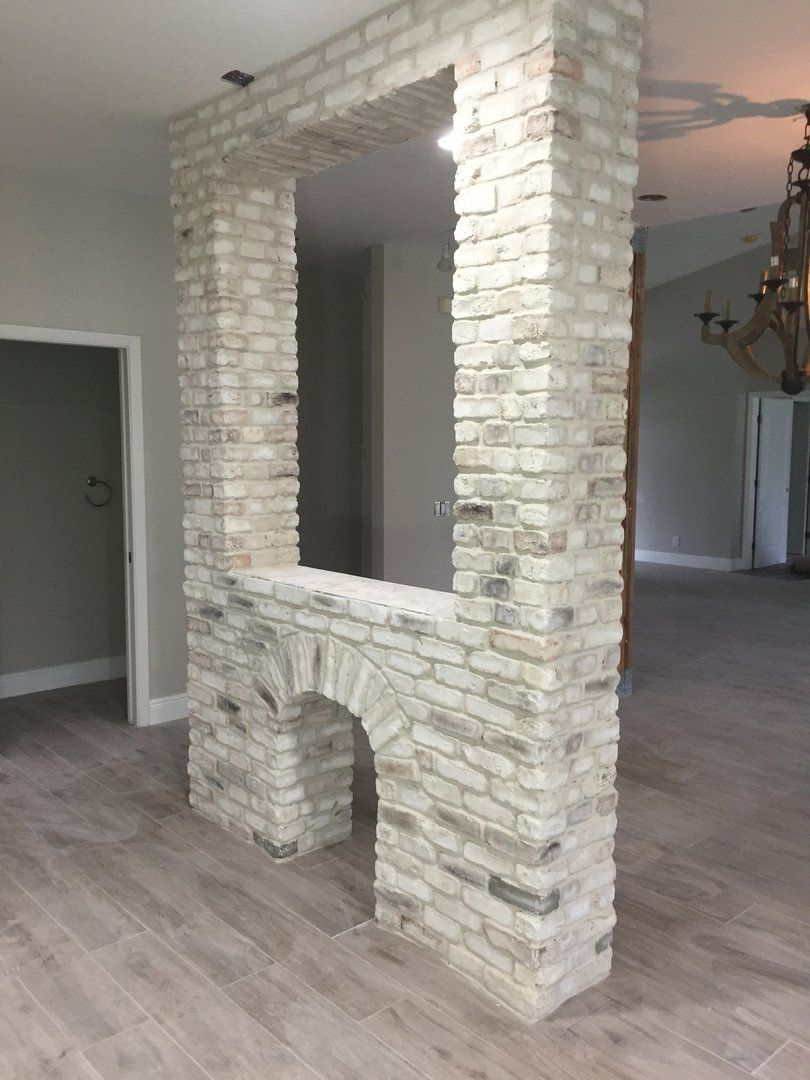 Chicago Style Brick Veneers White Mixed Color Brick Decoration Desig Brick Decor Brick Veneer Brick Interior Wall